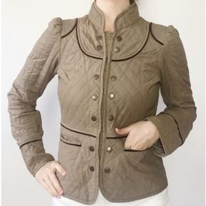 Anthropologie Tulle Quilted Jacket